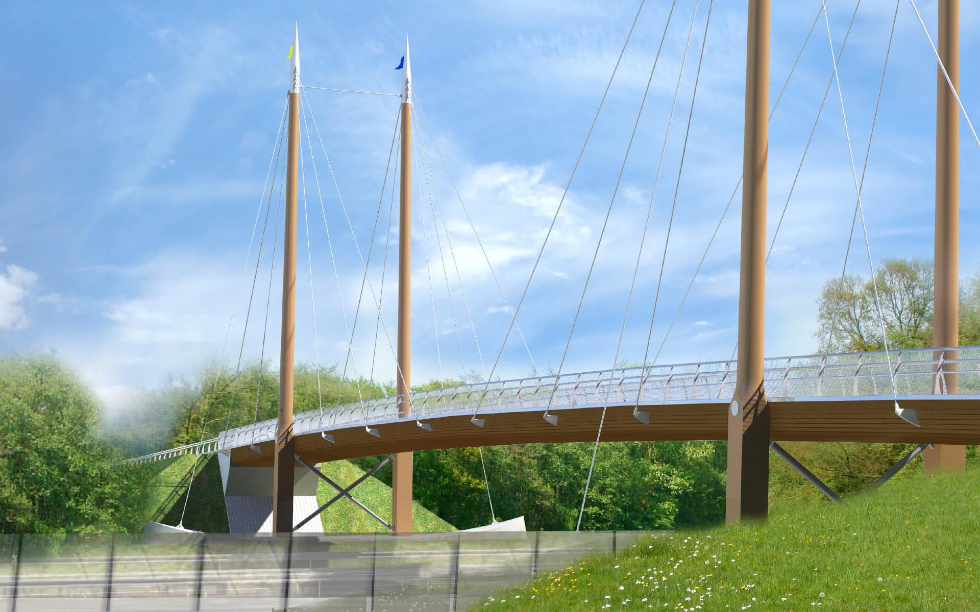 Brug ontwerp bruggenarchitectuur arc2 architecten - Architectuur staal corten ...